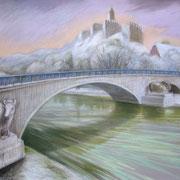 Burg Giebichenstein 2010 - Pastell auf Papier, 50x65cm  (in Privatbesitz)