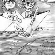 Illustration für Eulenblumen und Pustespiegel, Mitteldeutscher Verlag 2009