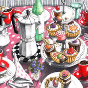 La dolce vita 2010 - Farbstifte auf Papier, 36x48cm