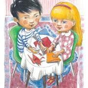Illustration für Anna und Akira, Jürgen Jankofsky, dorise verlag 2016