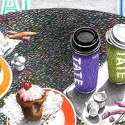 Late at Tate 2010 - Farbstifte auf Papier, 36x48cm