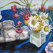 Chinesische Teestunden 2009 - Pastell auf Papier, 50x65cm (in Privatbesitz)