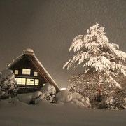 白川郷 岐阜 雪 ライトアップ