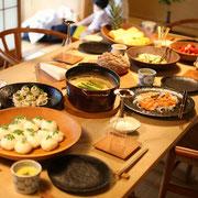 和 料理 ホームパーティー 春野菜 そら豆 おもてなし