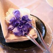 おもてなし 自宅セミナー 林和子 野菜ソムリエ オーガニックソムリエ 紫陽花 招く テーブルコーディネート