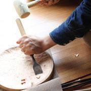 木のお皿 日曜大工 ケーキ皿