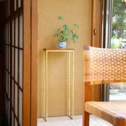縁側 床の張替え 花台 和