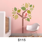 Tree with a Birdie Wall Decal