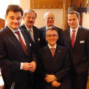 V.l.n.r.: Marcus Weinberg MdB, Dirk Fischer MdB, Gunnar Uldall, Hjalmar Stemmann MdHB, Roland Heintze MdHB