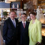V.l.n.r.: Dirk Fischer MdB, Hjalmar Stemmann MdHB, Dr. Sabine Bamberger-Stemmann