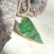 Herz Anhänger Granat grün