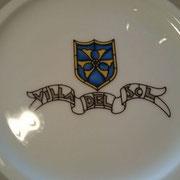 流石!ヴィラデルソルのお皿!素敵です!
