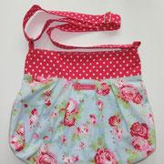 2 Handtasche mit verstellbarem Griff und Innentasche