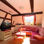 Wohnzimmer mit zusätzlichem TV
