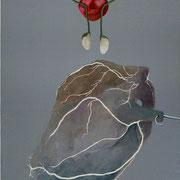 Corazon con testiculos / 2006 / acrilico y oleo s-tela / 50x70 cm