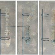 columnas / 2006/ acrilico y oleo s-tela / 150x130 cm