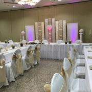 Hochzeitsdekoration, Stuhlhussen