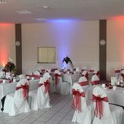Raumdekoration, Hochzeit, Stuhlhussen