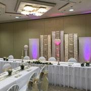 Brautpaartisch-Hintergrund, Hochzeitsdekoration
