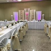 Hochzeitsdekoration, Brautpaartischhintergrund