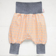 Raute Neonkorall/Orange + graues Bündchen