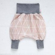 Dreieck Rosa + graues Bündchen