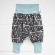 Dreieck Grau + hellblaues Bündchen