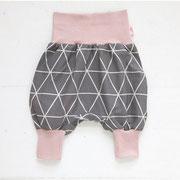 Dreieck Grau + rosa Bündchen