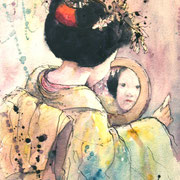 Maiko with Mirror