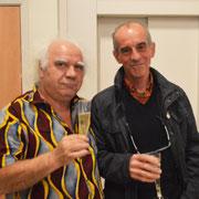L'éclairagiste Claude Couffin et l'ébéniste Alain Decol