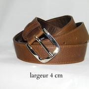 ceinture cuir France grande taille