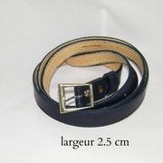 ceinture, femme, cuir, fine, marine, France
