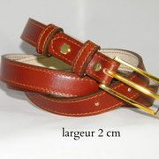 ceinture, femme, cuir, fine, marron, France