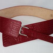 ceinture,femme,cuir,large,bordeaux,rouge,france,artisanal,