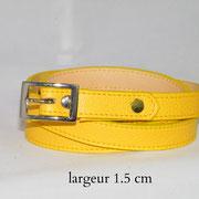 ceinture, femme, cuir, fine, jaune, France