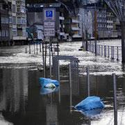Hochwasser auf der Lenneuferstraße