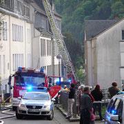 Brandeinsatz an der Thoméestraße