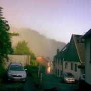 Morgennebel über der Bergstraße
