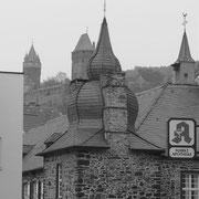 Türme der Burg Holtzbrinck, der Burg Altena und der Lutherkirche