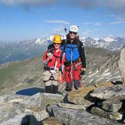...auf den Gipfel: ein Schutthaufen!