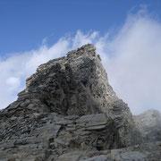 der brüchige Gipfelgrat zum Schafbergspitz