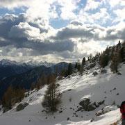 Schneefall und Sonne - was für ein Wetter