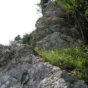 die Grat-Ausstieglänge