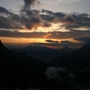 ...und Sonnenaufgang von derselben