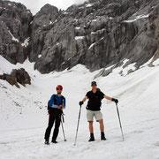Roli und Gerhard mitten am Eiskar