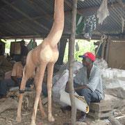 Riesen- Giraffe wartet auf Bemalung