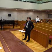 山口浩史先生、緊張感がでてきました。