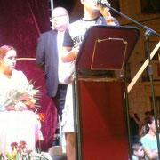 Agradecimientos de Víctor en la Presentación de Fiestas 2014