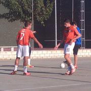 Álvaro y Luis jugaron de naranja por última vez