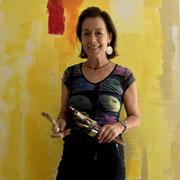 Irmgard Hofmann, Künstlerin, Mit dem Skizzenblock unterwegs, Corona-Paper-Werkstatt